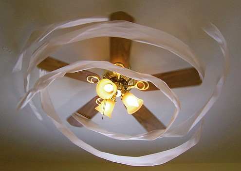 No More Dusty Ceiling Fans or Light Obstruction
