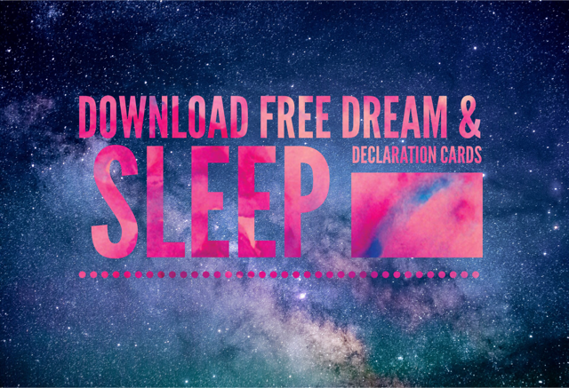 Dream and Sleep Declaration Cards by Merry Bruton of Destiny Dreamz